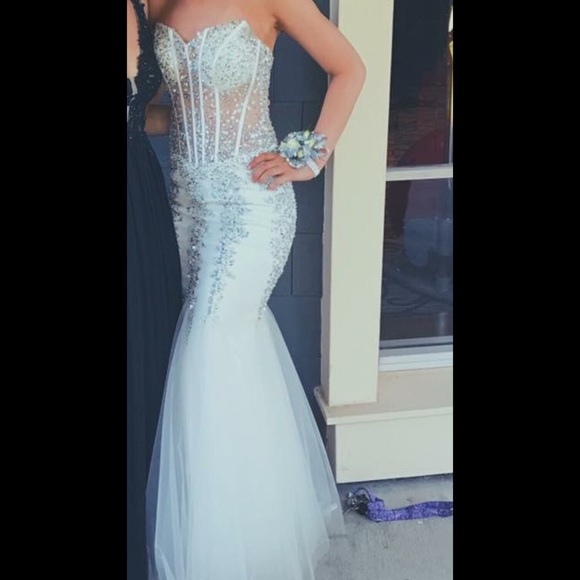 Jovani Dresses | 5908 Whitesilver Prom Dress | Poshmark